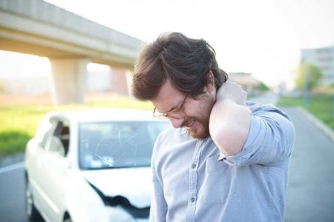 Neck injury from car accident