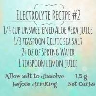 HCG Electrolyte Recipe #2