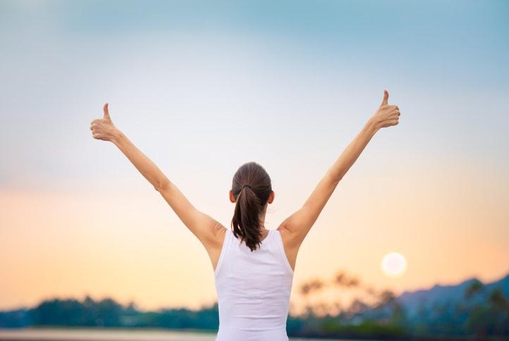 Stress free woman